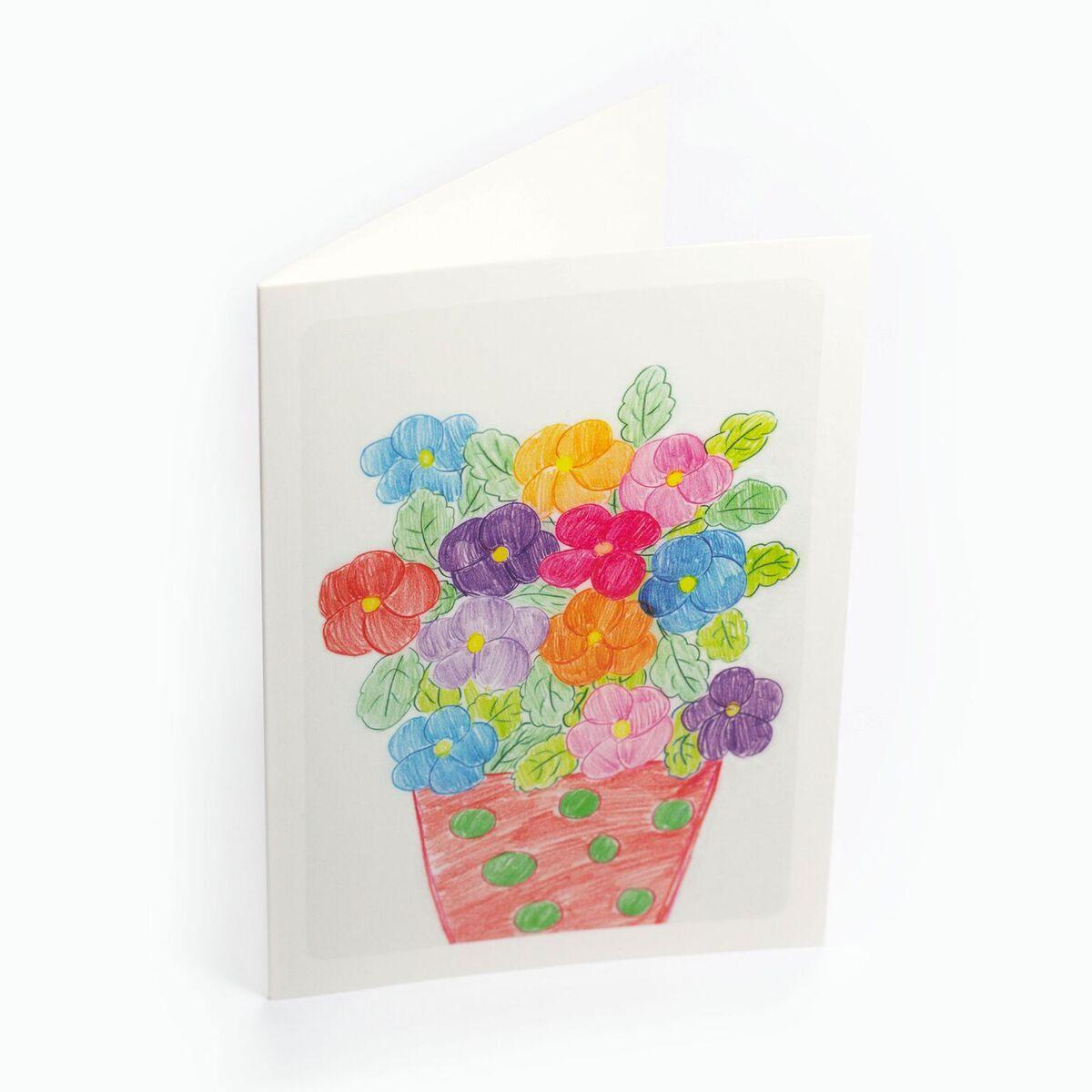 """Kartka """"Za kwiaty dziękujemy"""" wzór nr 8"""